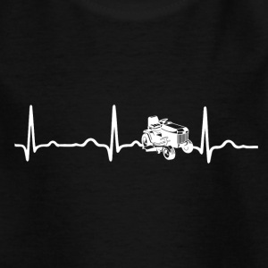 ECG HEARTBEAT MOWER TRACTOR wit - Kinderen T-shirt