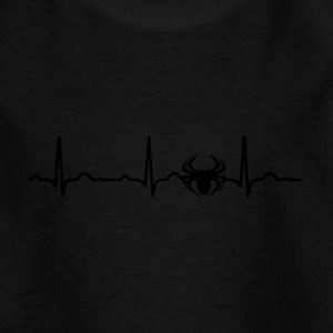 ECG HEARTBEAT Spin Spin Black - Kinderen T-shirt