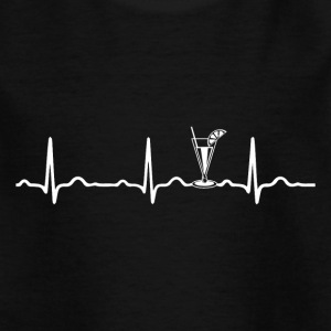 ECG HEARTBEAT COCKTAIL White - Kinderen T-shirt