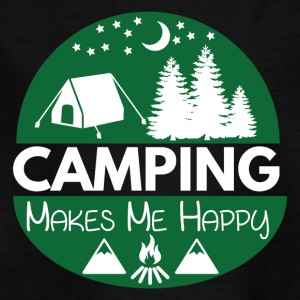 Camping Makes Me Happy - Kids' T-Shirt