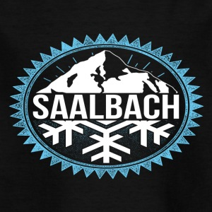 SAALBACH winter bergen - Kinderen T-shirt