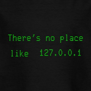 Theres no place like 127.0.0.1 - T-skjorte for barn