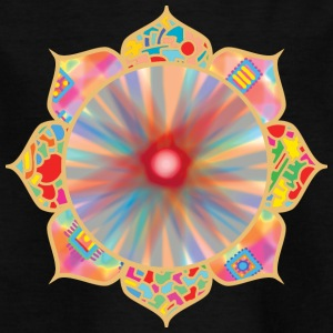 Farbige Lotus - Kinder T-Shirt