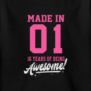 MADE IN 2001 - 16th BIRTHDAY - Kids' T-Shirt