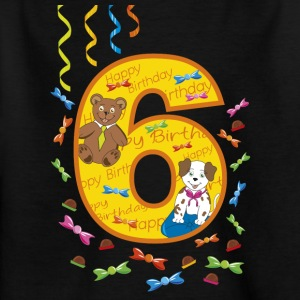 Sixth birthday dog ​​and dog 6 years old - Kids' T-Shirt