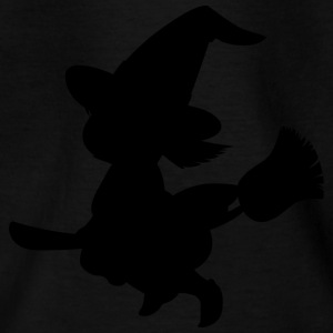Witch on broom - Kids' T-Shirt