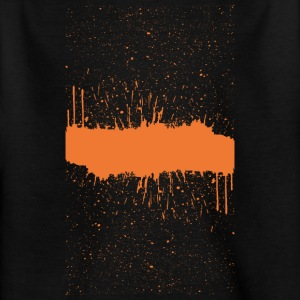 Orange brush Skizze - Kinder T-Shirt