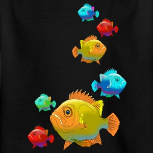 Fish perch Aquarium Ocean sea fishing water - Kids' T-Shirt