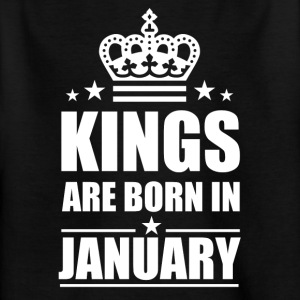 Kings are born in January - Kinder T-Shirt