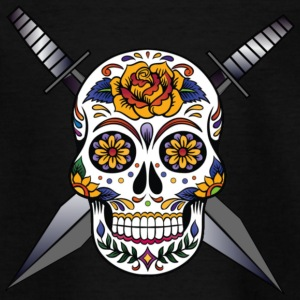 Cross skull swords - Kids' T-Shirt