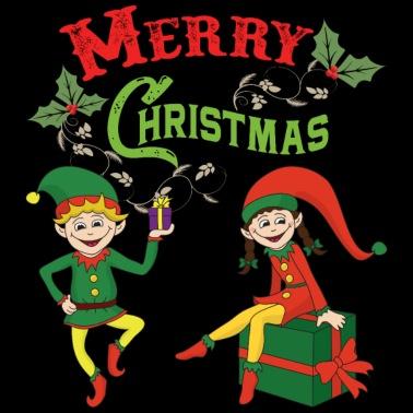 9d17dbd48f99e7 Kerst Kerstthema Kerst elfelf - Kinderen T-shirt