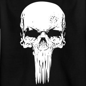 Skull long white - Kids' T-Shirt