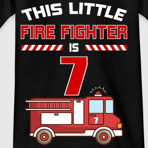 THIS LITTLE FIRE FIGHTER IS 7 - Kids' T-Shirt