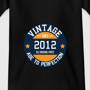 Vintage since 2012 - Age to Perfection birth year - Kids' T-Shirt