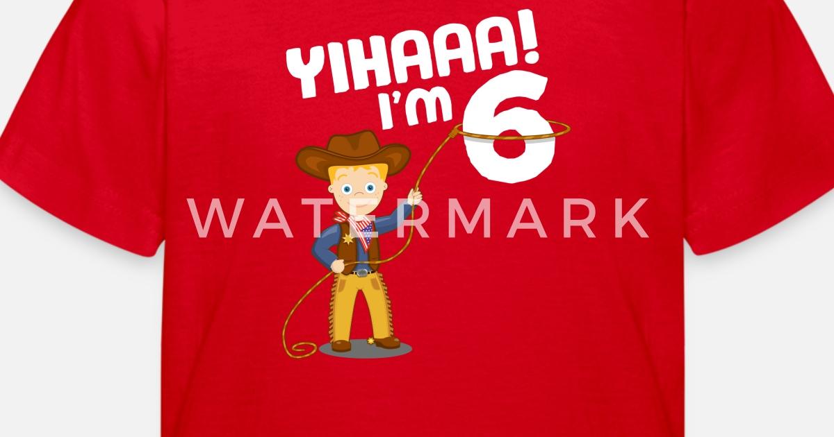Cowboy Wild West Kind Geburtstag Junge 6 Jahre von Zooooom   Spreadshirt
