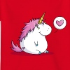 Fat unicorn with heart - Camiseta niño