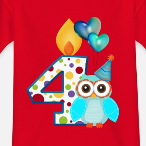 Birthday figure 4 owl with air balloon
