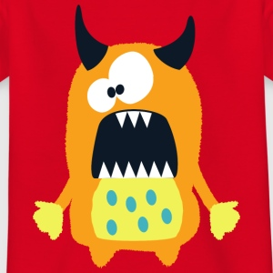 Monster Hannah - Sweet, brown monster - Kids' T-Shirt
