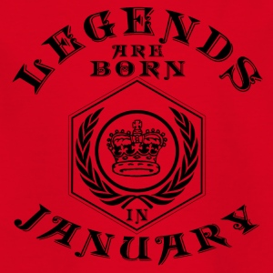 Legends January born birthday gift birth - Kids' T-Shirt