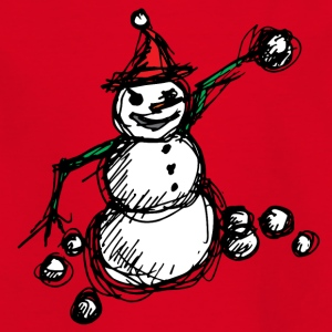 Angry Snowman cheerful snowman winter snow - Kids' T-Shirt