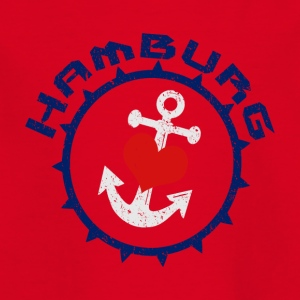 Hamburg Anchor with heart - Kids' T-Shirt