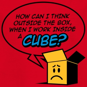 Cant Think Outside The Box,I'm In A Cube! - Kids' T-Shirt