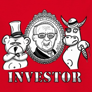 Bear and bull with Warren Buffet - real investors - Kids' T-Shirt