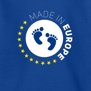 made birth foot in Europe EU Lovebaby stars EUR - Teenage T-shirt