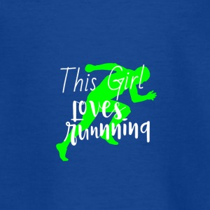 This Girl loves running | Joggen Marathon laufen - Teenager T-Shirt