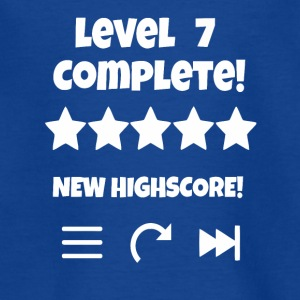Level 7 Complete New Highscore - Teenage T-shirt