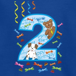 Two year old male birthday - Teenage T-shirt
