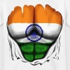 India Flag Ripped Muscles, six pack, chest t-shirt - Teenage T-shirt