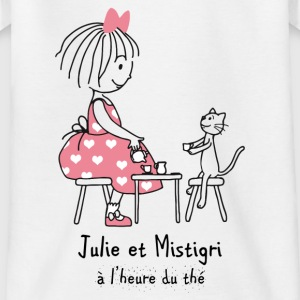 Julie and Mistigri at tea time - Teenage T-shirt