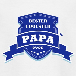 Dankenswert coolster Papa ever - Badge - Teenager T-Shirt