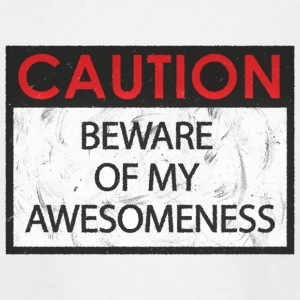 Caution - Awesomeness - Teenage T-shirt