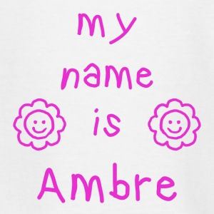 AMBRE MY NAME IS - T-shirt Ado