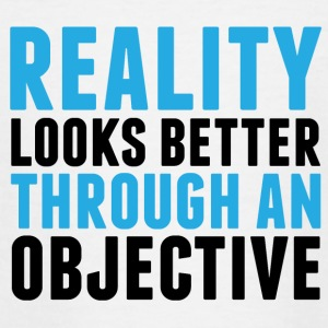 Reality looks better through an objective - Teenage T-shirt