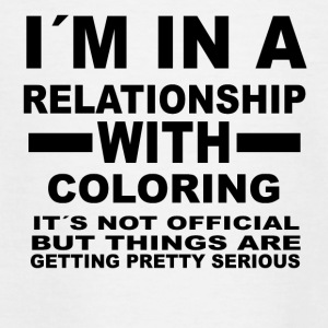 Relationship with COLORING - Teenage T-shirt