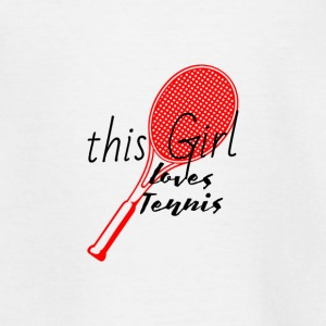 This woman loves tennis Loves tennis red - Teenage T-shirt