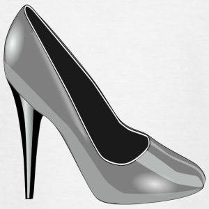 High Heel Silver - Teenage T-shirt