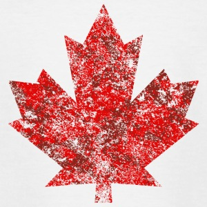 Grunge Feuille Canada Canada Maple Leaf Maple Amérique - T-shirt Ado