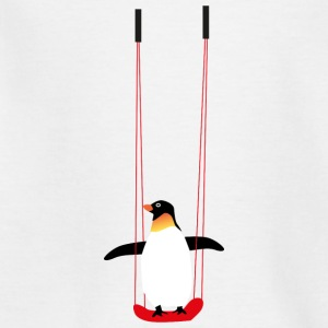 Penguin på swing - T-shirt tonåring