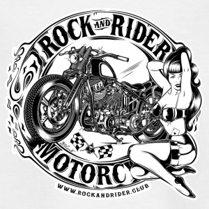 rock_and_rider_motorcycle_BW - Camiseta adolescente