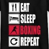 Eat-Sleep-Boxing-Repeat - Teenage T-shirt
