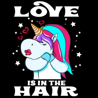 Love is in the Hair Friseurin Einhorn Geschenk