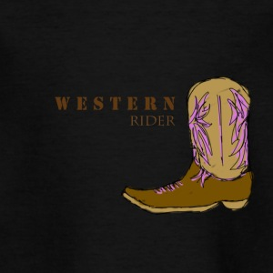 Western rider color - Teenage T-shirt