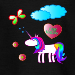 UNICORN Jeg er glad - Teenager-T-shirt