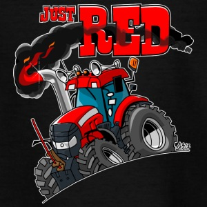 just RED whiteborder - Teenager T-shirt