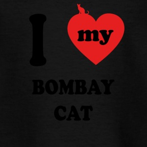 I love fat cats BOMBAY CAT - Teenage T-shirt