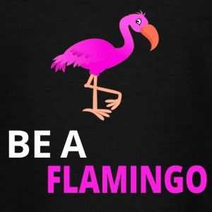 Be A Flamingo - Teenager-T-shirt